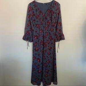 Madewell | Willow Leaf Tie Sleeve Maxi Dress - 0